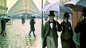 Gustave Caillebotte - Rue de Paris, temps de pluie (1877 - détail)